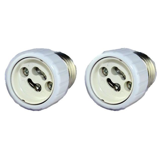 Adaptador Soquete E27 Para Gu10 2 Unidades