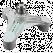 Soquete Adaptador Triplo para Bocal E-27