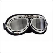 Óculos Clássico Motociclismo Fumê Espelhado