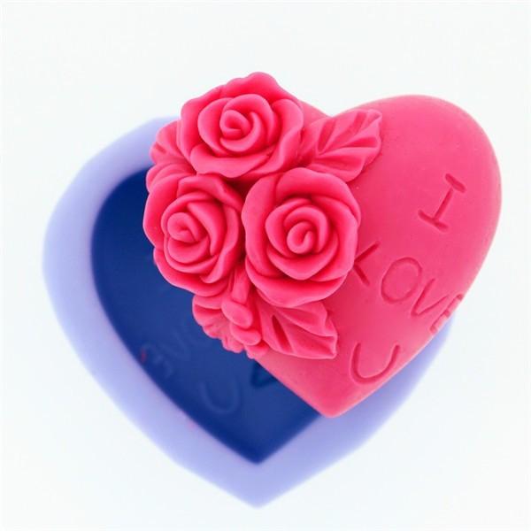 Molde Sabonete Artesanal Silicone Coração