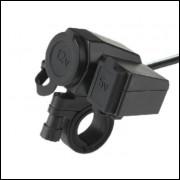Tomada Isqueiro Carregador USB para Motos