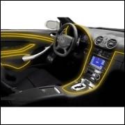 Fio Neon Amarelo Adaptador 12 V Tubo Flexível 3 M