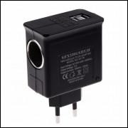 Conversor Adaptador 110 220 V AC Para 12 VDC com Saída USB