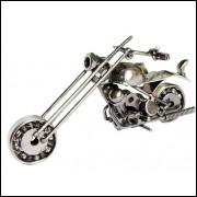 Miniatura Moto Chopper Em Metal
