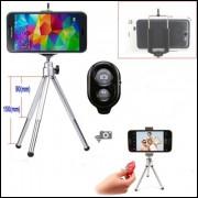 Tripé Câmera Fotográfica Celulares Obturador Bluetooth