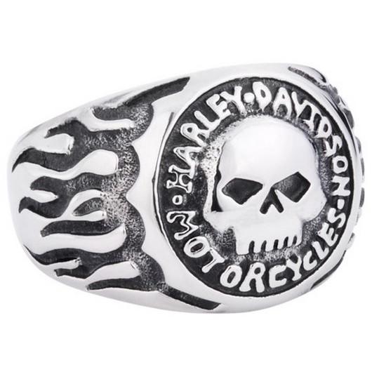 Anel Harley Davidson em Aço Inox
