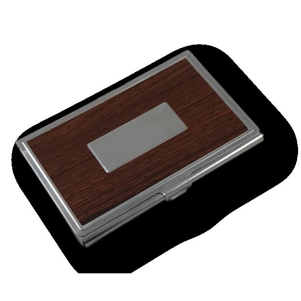 Porta Cartão de Visitas em Aço Inox