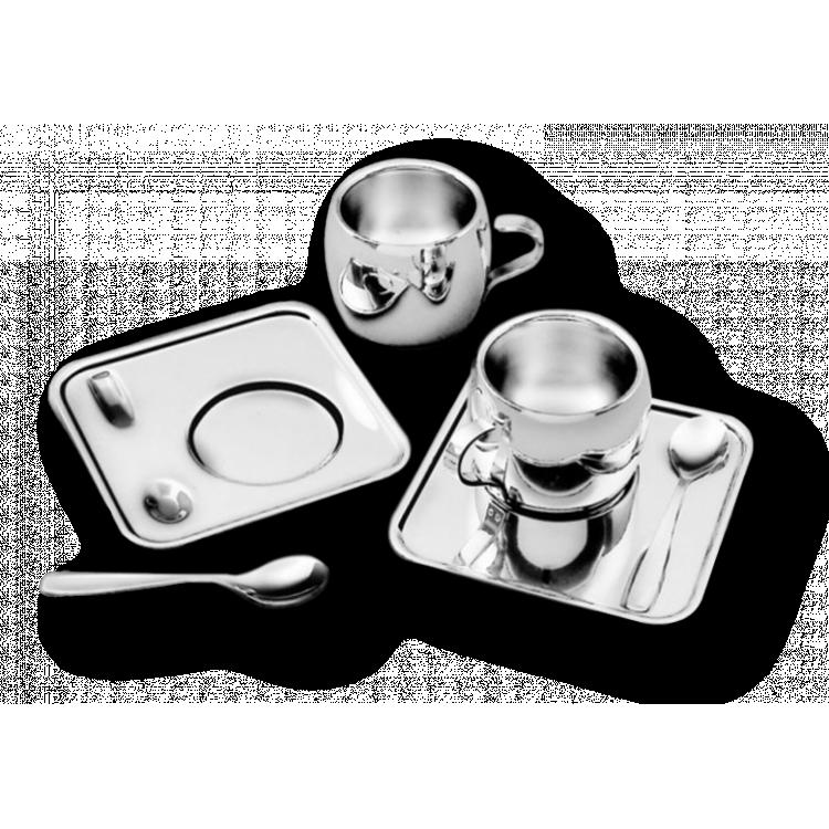 Conjunto Xícaras Café Inox Tramontina 18 peças