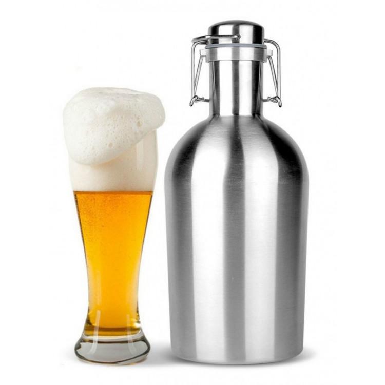 Growler Garrafa Aço Inox 1.9 Litros Para Cerveja