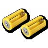 Adaptador de 3 Pilhas AA para Tamanho D 2 unidades
