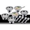 Conjunto Inox Para Servir Sobremesa 12 Peças